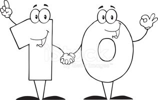 Black And White Number Ten Clipart Images