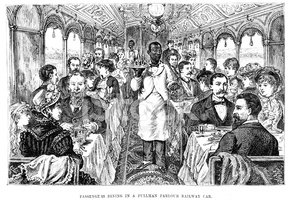 Engraved Image,Dining Car,B...