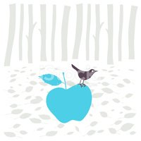 Apple - Fruit,Bird,Forest,P...