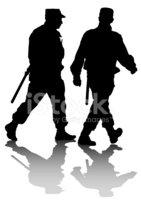 Silhouette,Police Force,Vec...
