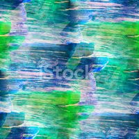 hand blue, green paint background art seamless wallpaper waterco