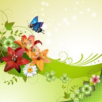 Leaf,Flower,Plant,Butterfly...