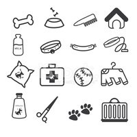 Pet Food,Dog,Icon Set,Symbo...