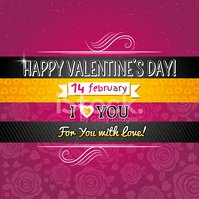 color background with valentine heart and wishes text