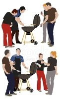 Barbecue Grill,Barbecue,Peo...