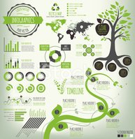 Green Nature Infographics
