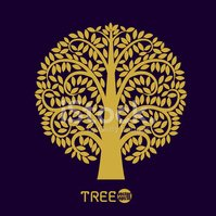 Tree symbol Asia style, Vector illustration