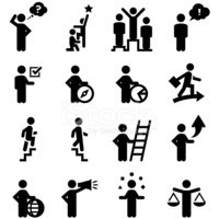 Business Workers Icons - Black Series
