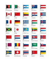 Series of illustrated country flags