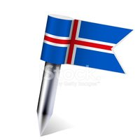 Vector Iceland flag isolated on white. Eps10