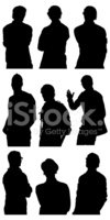 Silhouette,Standing,Young M...