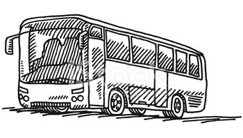 Bus Transportation Drawing Clipart Images