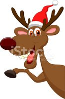 Cartoon,Moose,Reindeer,Youn...