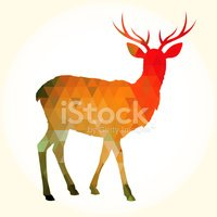 Deer,Modern,Backgrounds,Tri...