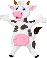 Cow,Showing,Animal Hand,Jum...