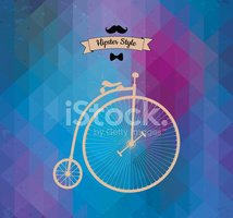 Hipster,Unicycle,Old-fashi...