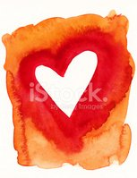 Heart Shape,Orange Color,Re...