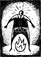 Woodcut,Flame,Emotional Str...
