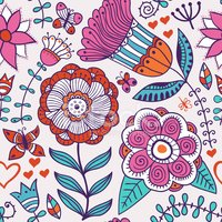Abstract floral background, summer theme