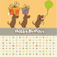 Birthday,Ilustration,Dog,Jo...