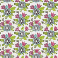 Abstract floral background, summer theme seamless
