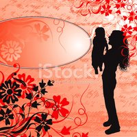 Mother,Baby,Silhouette,Chil...