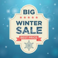 Sale,Winter,Banner,Placard,...