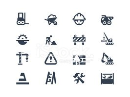 Construction and renovation icons