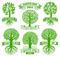 Earth Day,Tree,Variation,Wo...