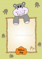 Cheerful,Hippopotamus,Greet...