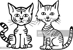 Two Kitty Cats Stock Vectors Clipartme