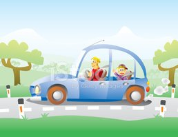 Car,Cartoon,Child,Father,Dr...
