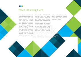 Brochure Design with Squares
