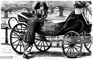 Victorian Couple With A Horse Drawn Carriage stock vectors - Clipart.me