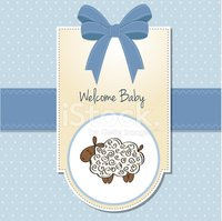 Lamb,Baby Carriage,Greeting...