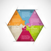 Hexagon infographic template