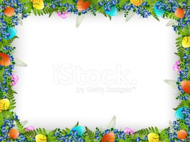 Frame,Easter,Flower,Eggs,Gr...