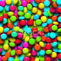 Small,Candy,Circle,Multi Co...