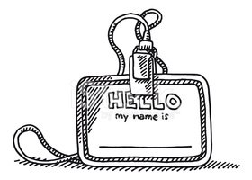 Name Tag,Doodle,Identity,He...