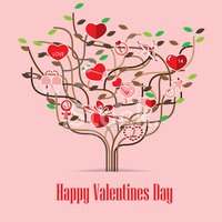 Valentine Love icon Tree