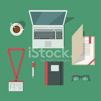 Note Pad,Desk,Group of Obje...