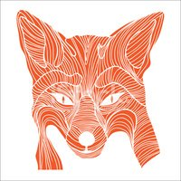handdrawn,Fox,Striped,Dog,S...