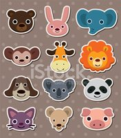stickers animal face