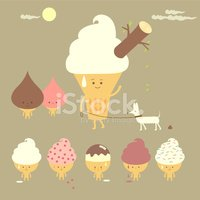 Ice Cream,Characters,Fruit,...