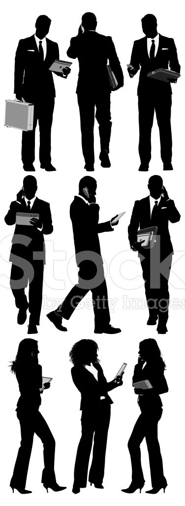 Silhouette,Business Person,...