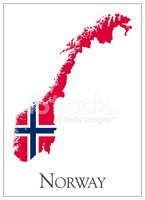 Norwegian Flag,Norway,Map,C...