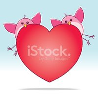 Heart Shape,Two Animals,Val...