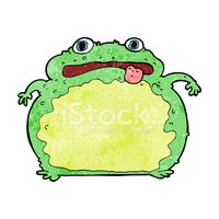 Cheerful,Toad,Frog,Clip Art...