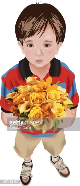 People,Bouquet,Gift,Child,F...