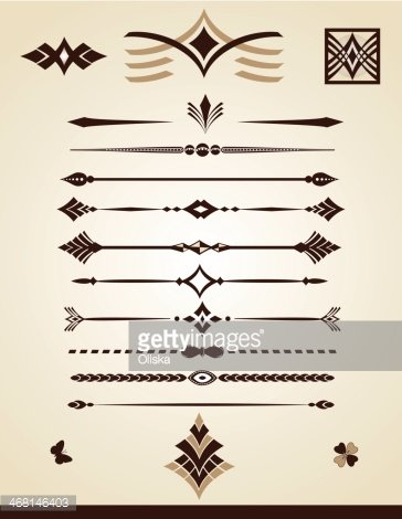 Dividing lines and page decorations
